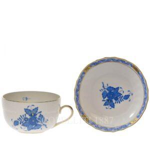 herend tazza tè apponyi blue