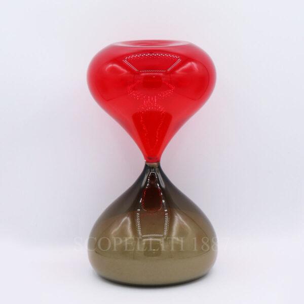 clessidra hourglass venini edizione limitata rosso talpa 03490
