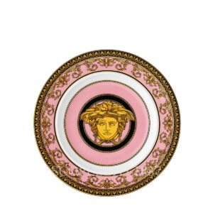 piattino 18 cm medusa colours rosa versace