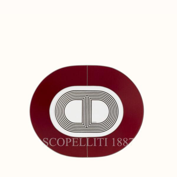 piattino ovale red rallye 24 hermes