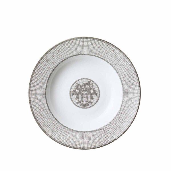 piatto fondo mosaique au 24 platinum hermes