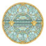 piatto segnaposto 33 cm scala del palazzo verde versace