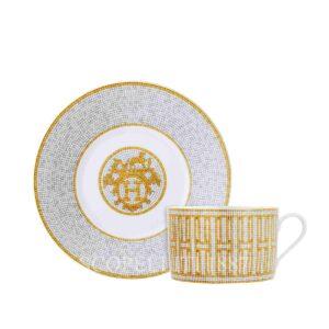 set 2 tazze colazione mosaique au 24 hermes