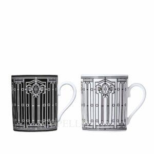 set 2 tazze mug h deco hermes