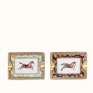 set di 2 mini posaceneri cheval d orient hermes