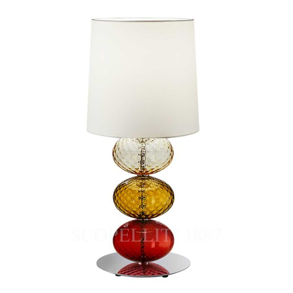 venini lampada da tavolo abat-jour rosso te ambra