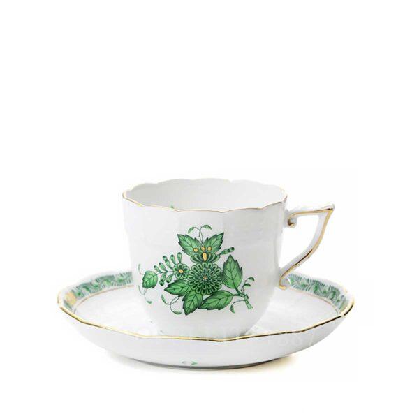 herend apponyi tazza caffè verde